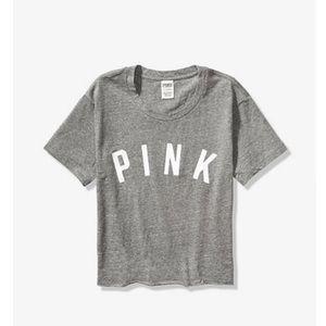VS Pink Crop Tee New Size M